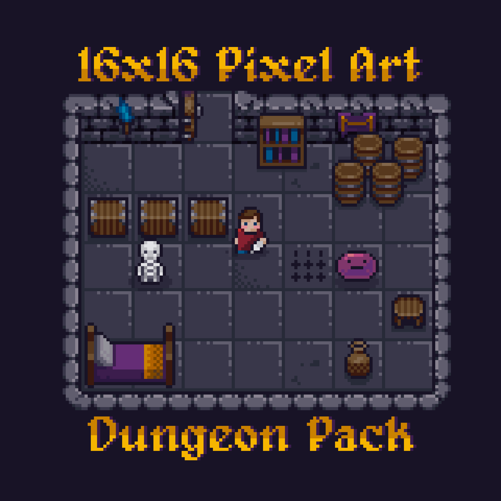 16x16 Pixel Art Dungeon Pack Icon