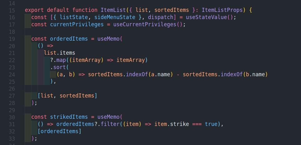 example component screenshot