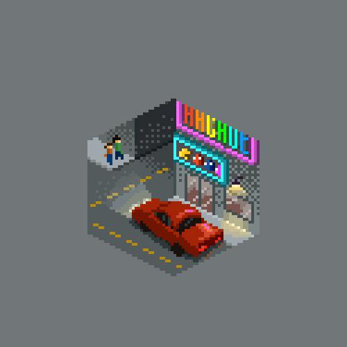 abonbon pixelart: arcade cube