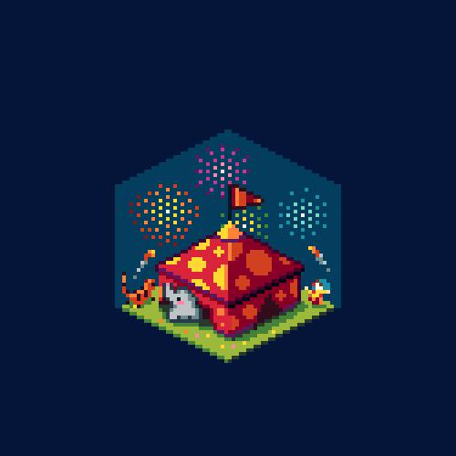 abonbon pixelart: circus cube