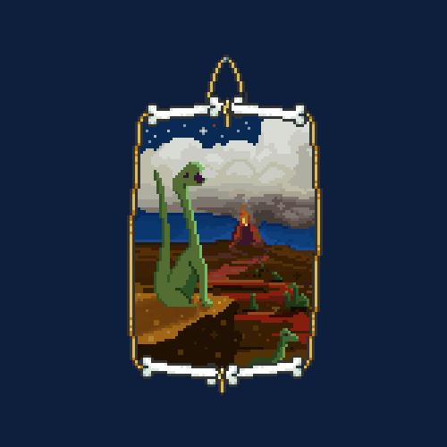 abonbon pixelart: dinosaur