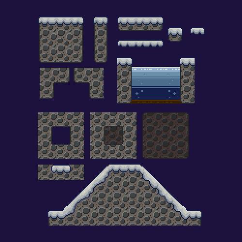 abonbon pixelart: duckguy iceworld tileset