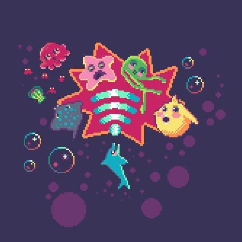 abonbon pixelart: Sonar Smash artwork