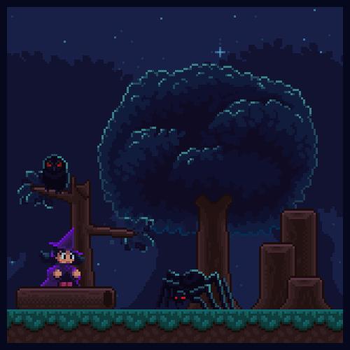 abonbon pixelart: sorceress forest