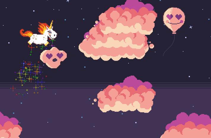 Rainbow Sparkle Time Early Prototype Screenshot