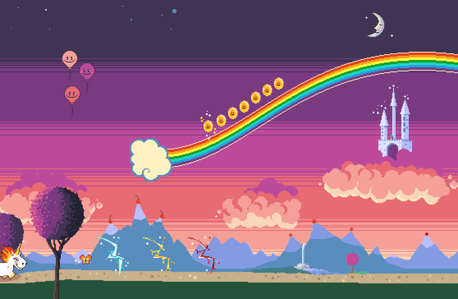 Rainbow Sparkle Time Early Prototype Screenshot