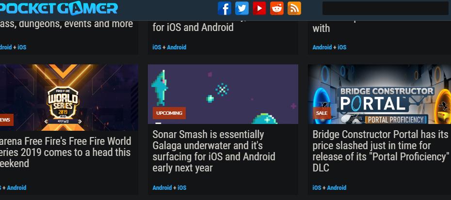 Sonar Smash Pocket Gamer Article
