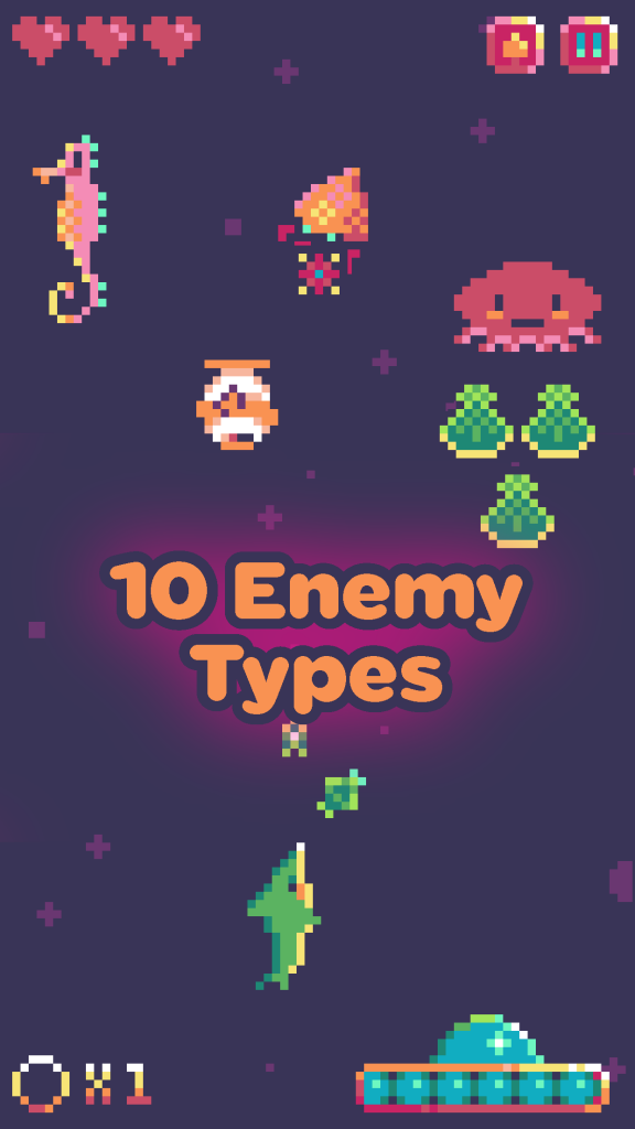 Sonar Smash 10 Enemy Types Screenshot